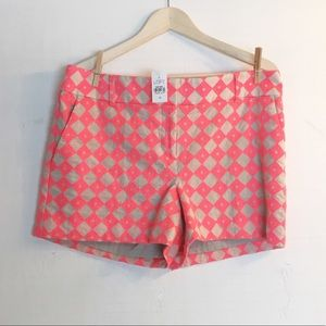 Ann Taylor Loft Rivera Short Orange And Tan